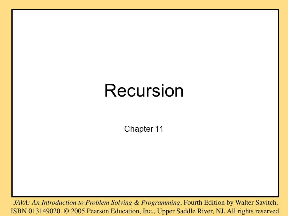 Recursion Chapter 11