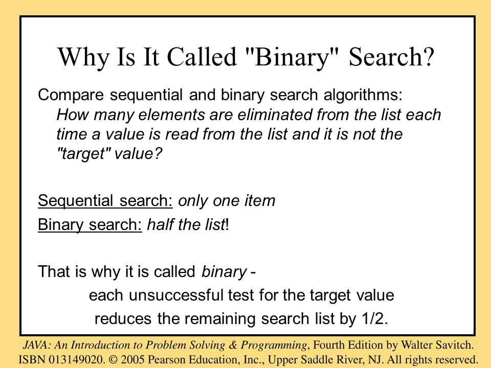 Why Is It Called Binary Search.