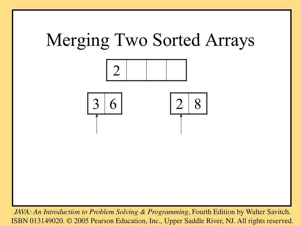 Merging Two Sorted Arrays 2 3628