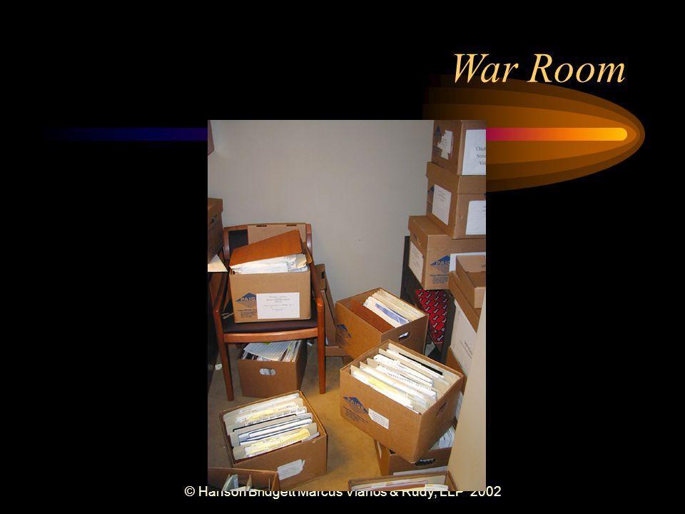 © Hanson Bridgett Marcus Vlahos & Rudy, LLP 2002 War Room