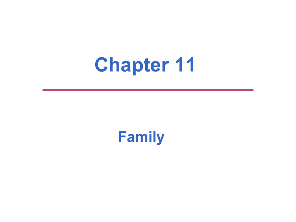 Chapter Outline  Marriage and Family: Basic Institutions of Society  The U.S.