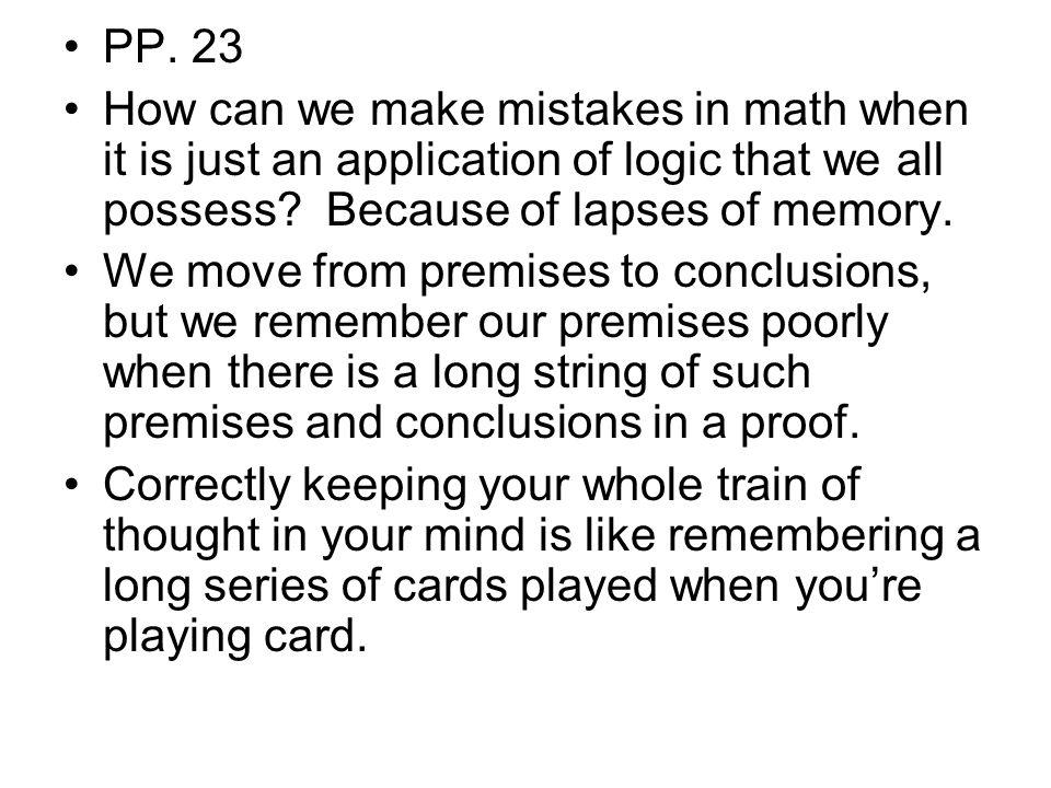 P.24 But mathematical reasoning isn't just memory.