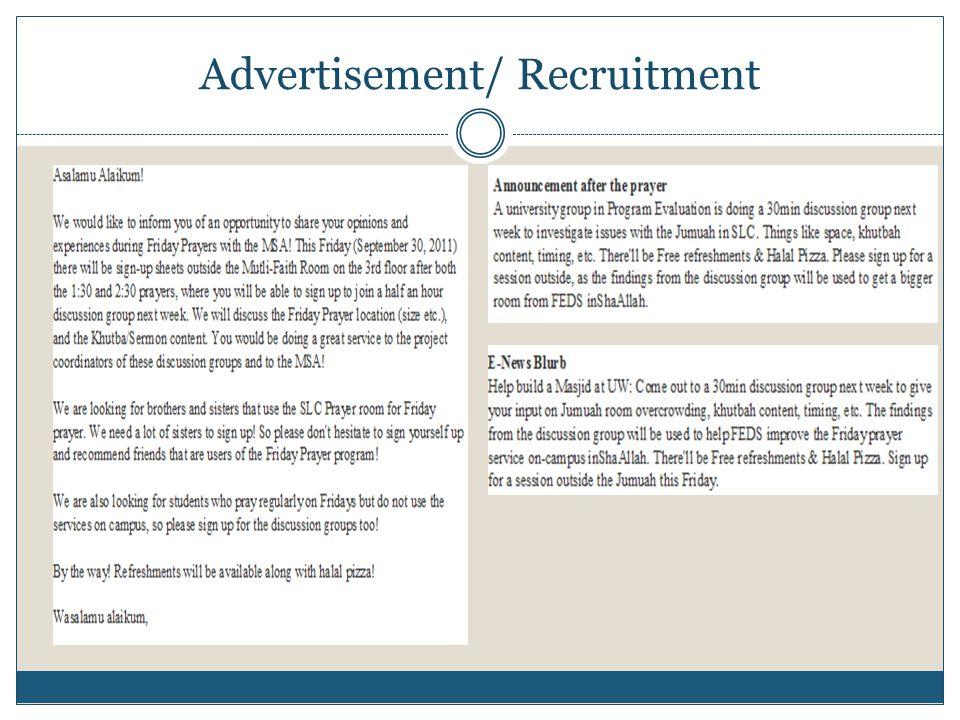 Advertisement/ Recruitment