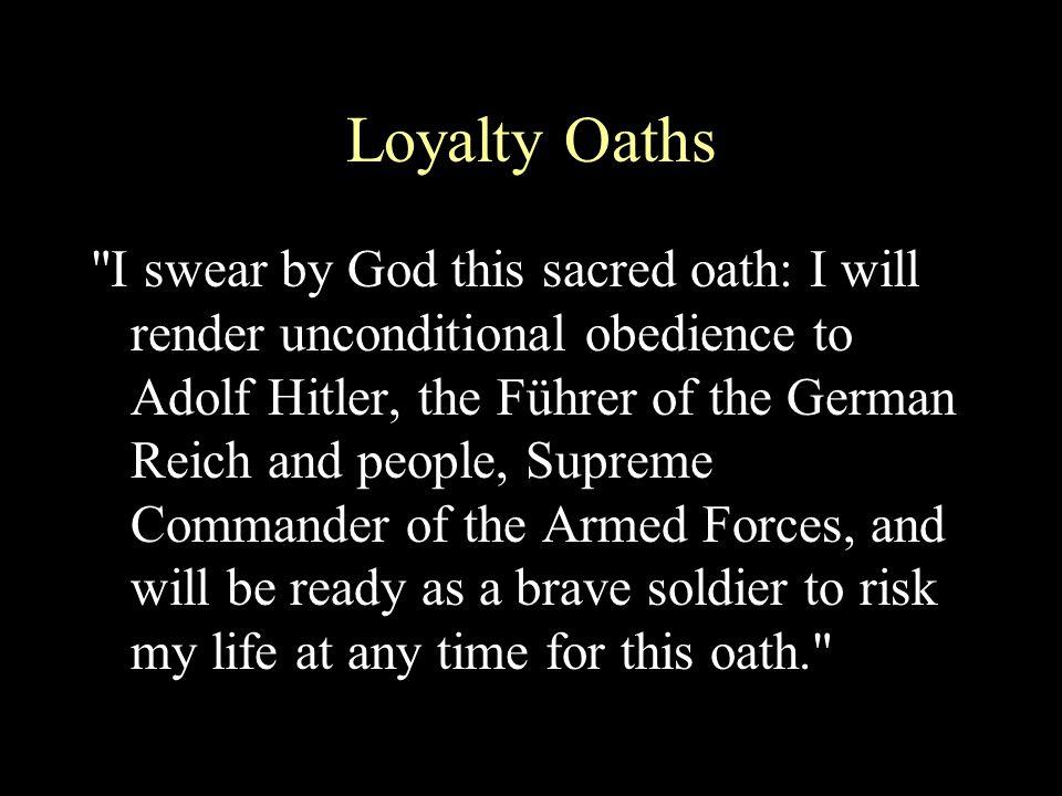 Loyalty Oaths