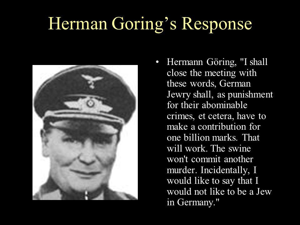 Herman Goring's Response Hermann Göring,