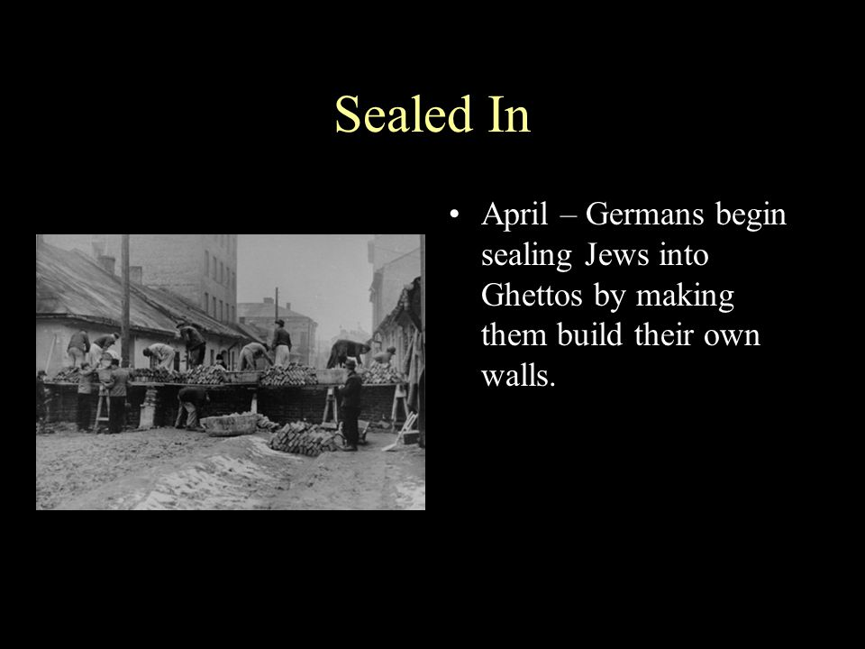 Life in the Ghetto Life in the Ghetto was often brutal Jews were subject to whims of SS Nazi kicks Jew during forced labor round up in Krakow