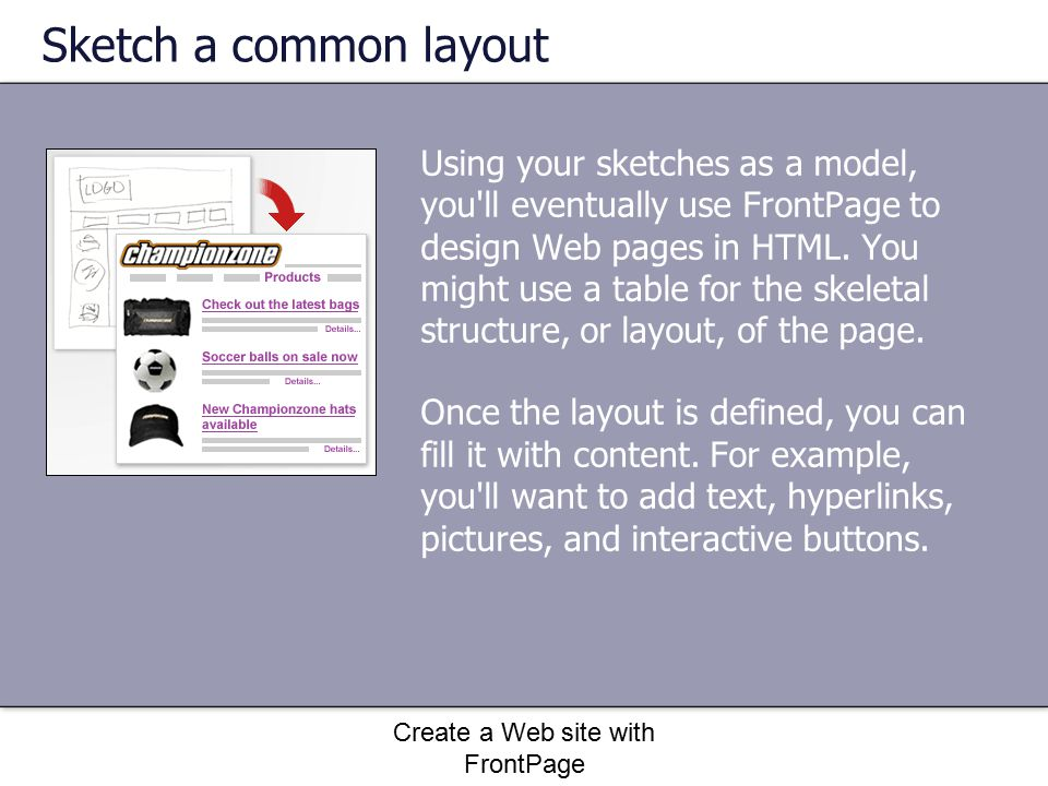Create a Web site with FrontPage Quick Reference Card Add a background to the page 1.