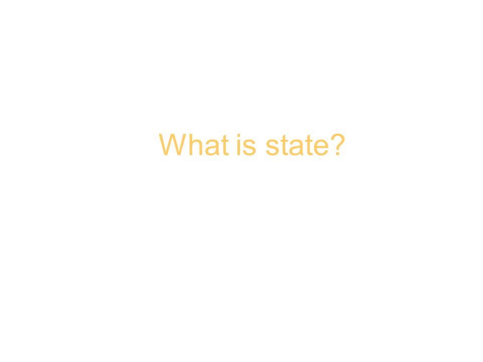 What is a state? What is state?