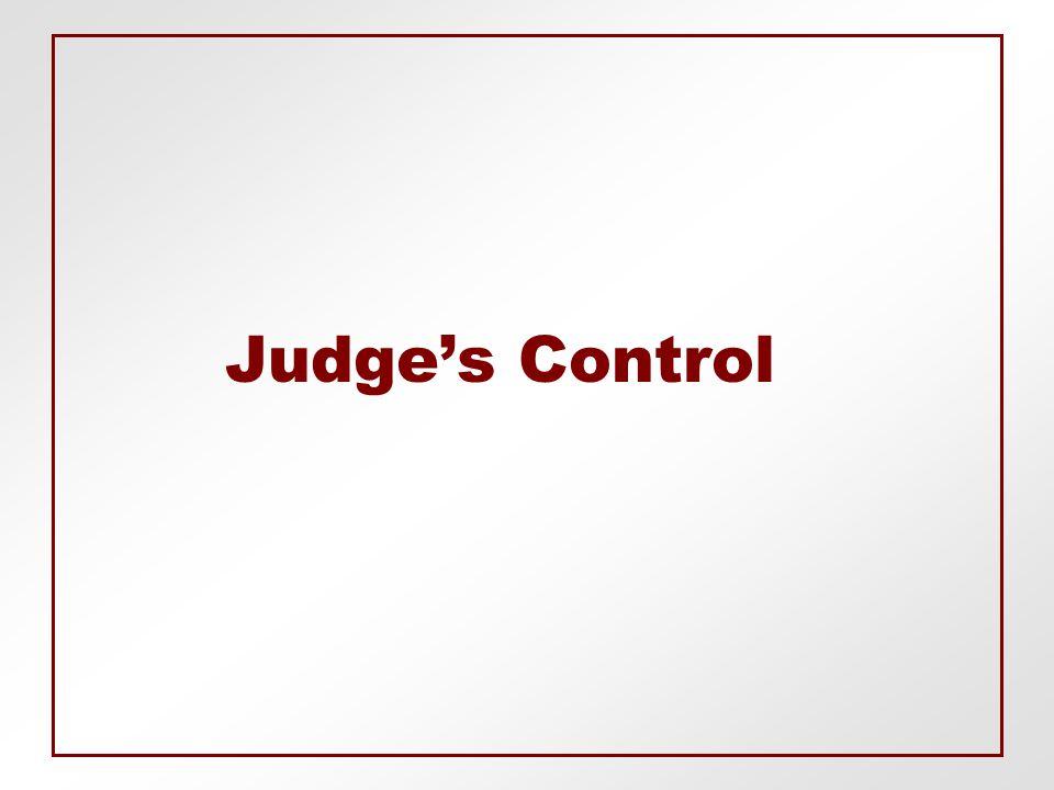 Judge's Control