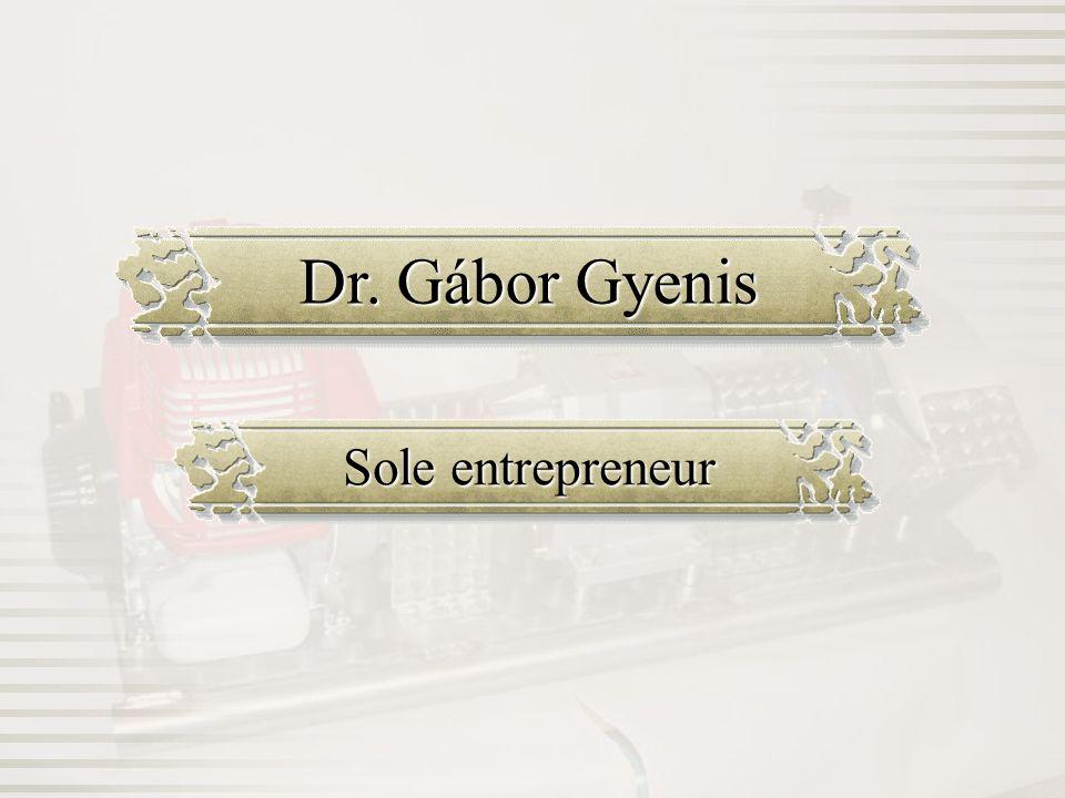 Dr. Gábor Gyenis Sole entrepreneur