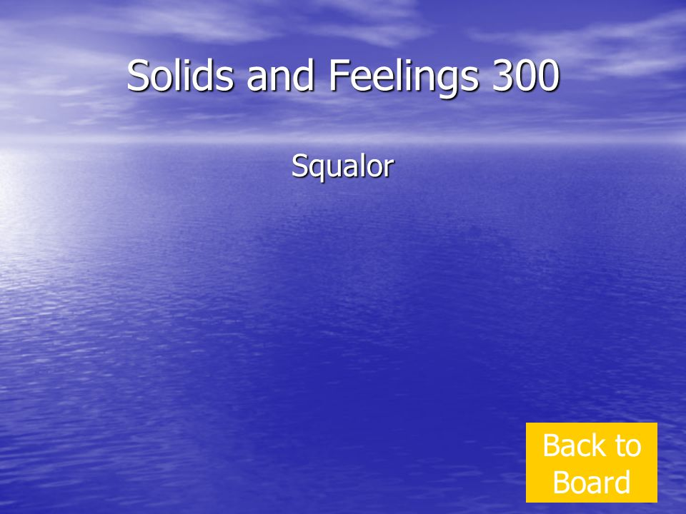 Solids and Feelings 300 Squalor Back to Board