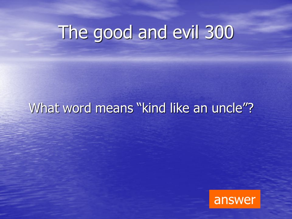 Kings and Queens 200 What word means not noble ? answer