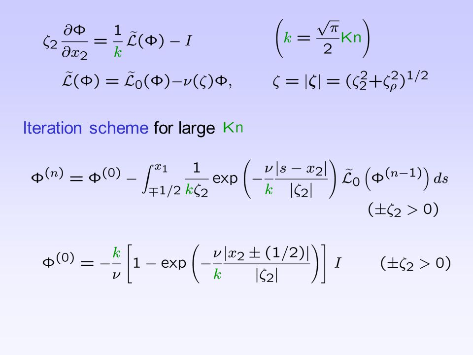 Iteration scheme for large