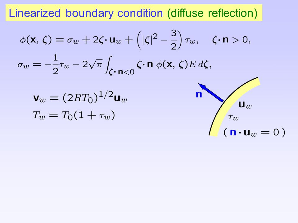 Linearized boundary condition (diffuse reflection)