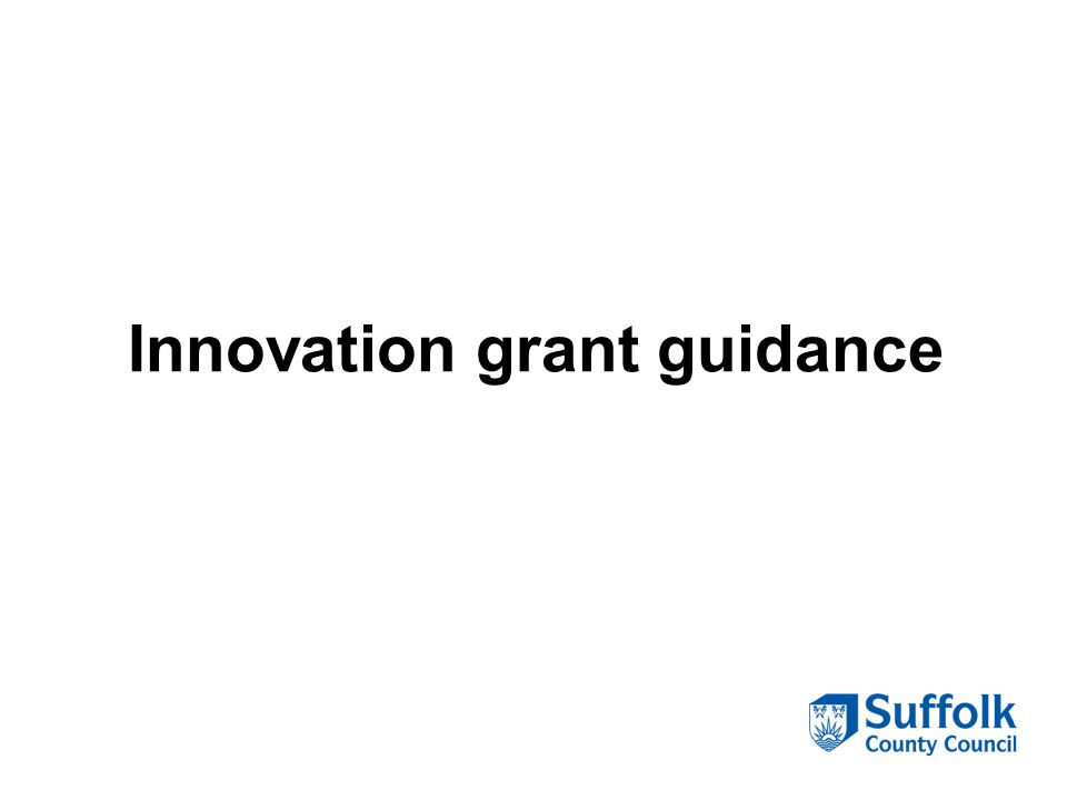 Innovation grant guidance