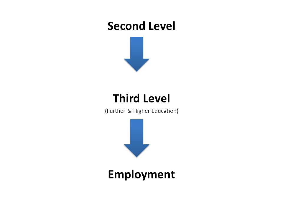 Second Level Third Level (Further & Higher Education) Employment