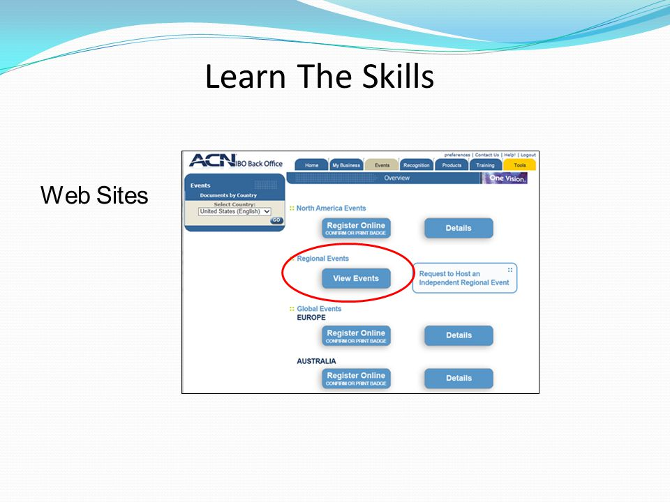 Web Sites Learn The Skills