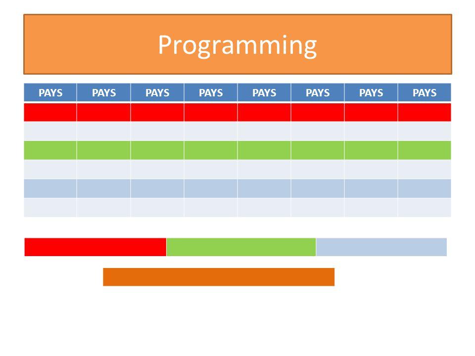 Programming PAYS