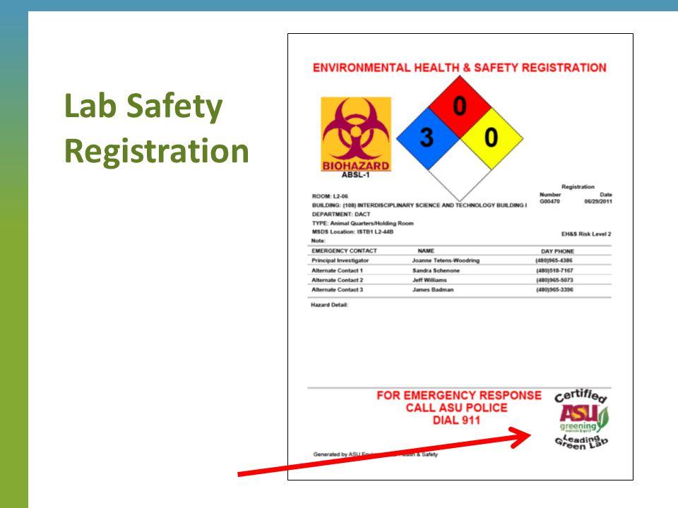Lab Safety Registration