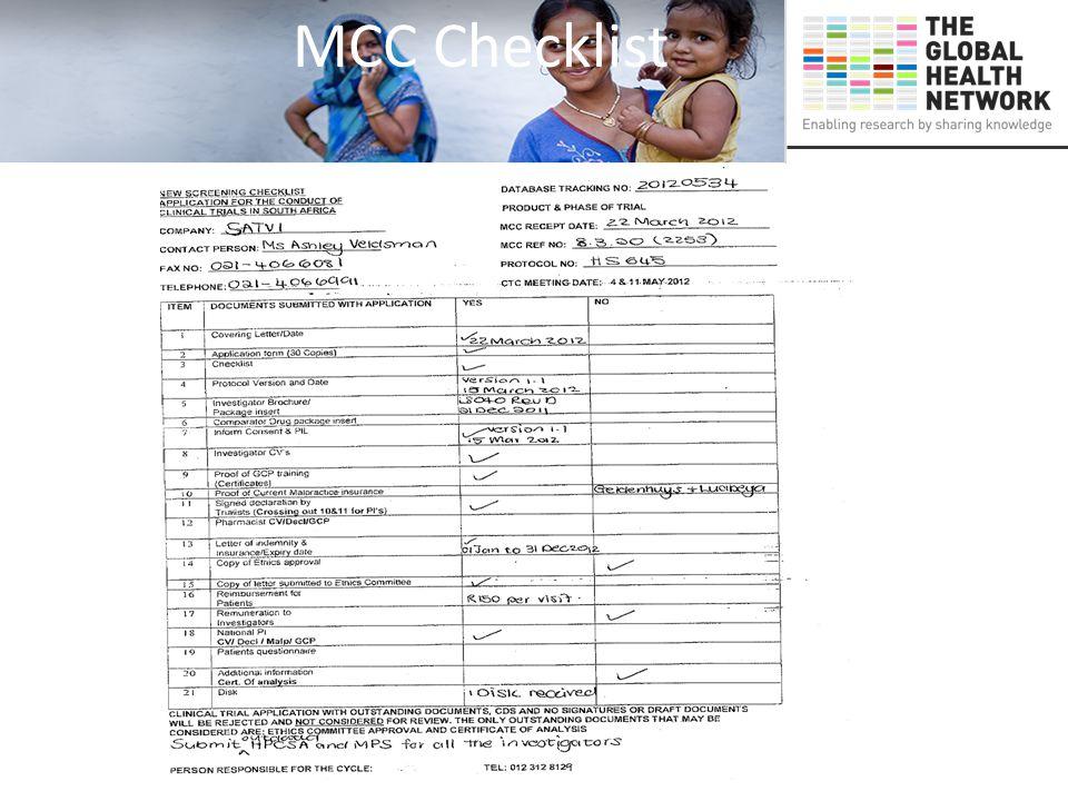 MCC Checklist