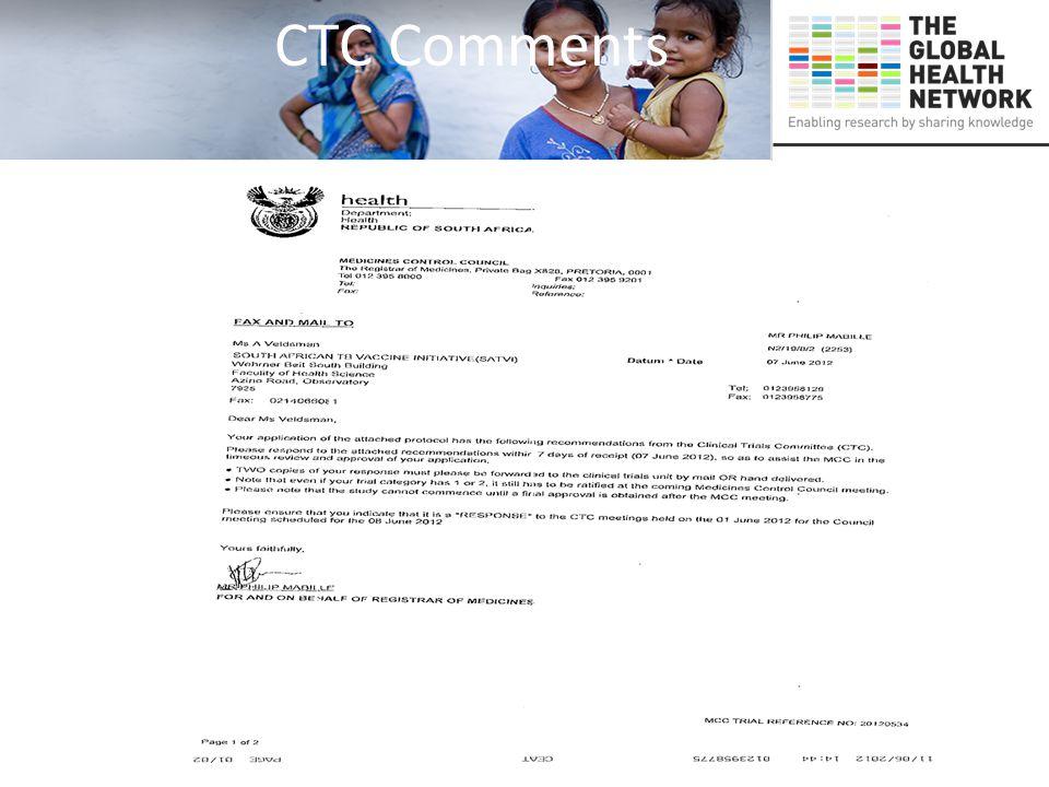 CTC Comments