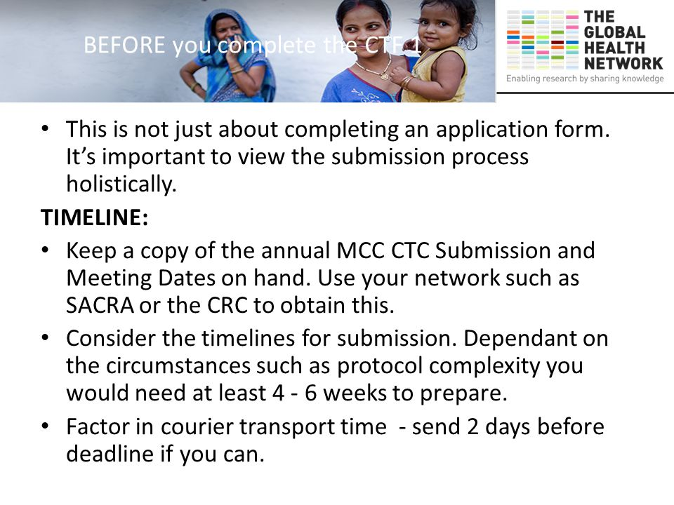 BEFORE you complete the CTF 1 This is not just about completing an application form.