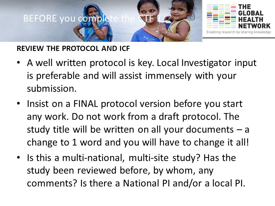 Section 3 1: Title 2:Protocol 3: Rationale 4: Background 5: Objectives 6: Study Design Section 3: APPLICANT'S REPORT / PRESENTATION All this information should be available in the Protocol and this section should be completed with assistance of PI/Lead Investigator