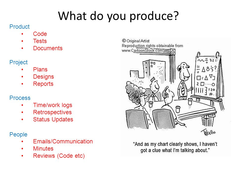 What do you produce.