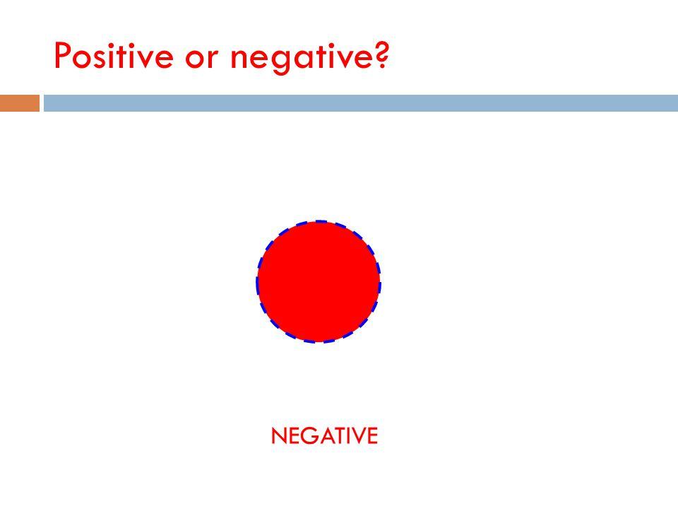 Positive or negative? NEGATIVE