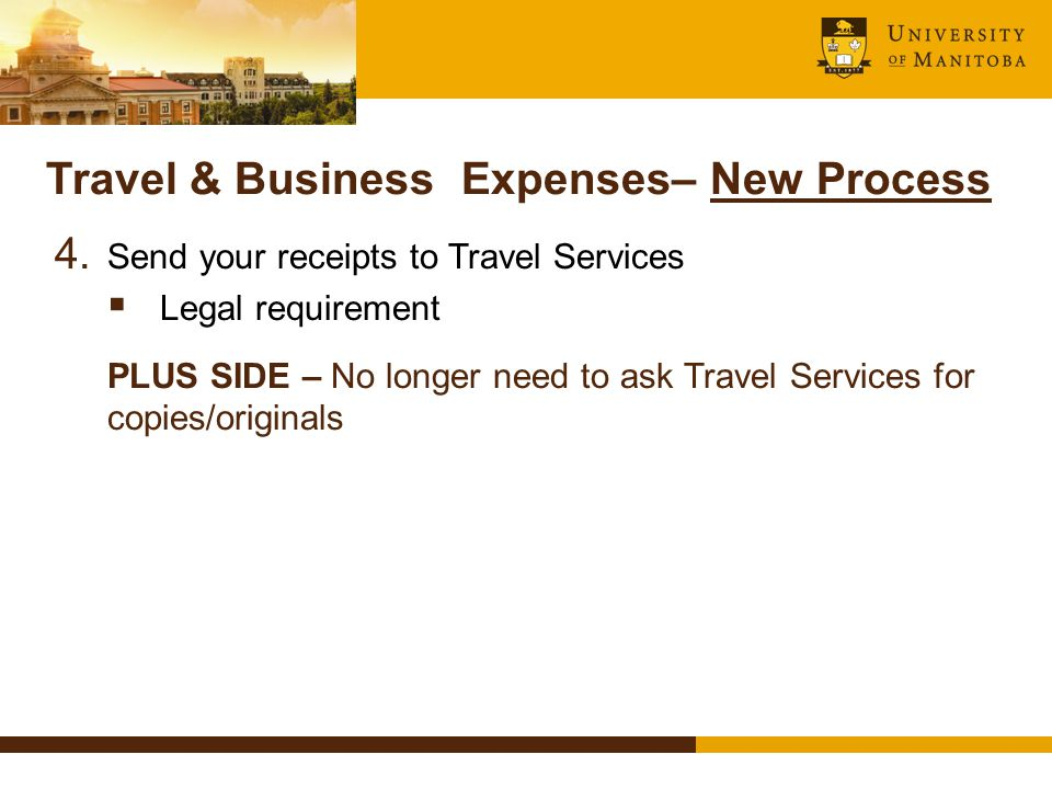 Travel & Business Expenses– New Process 4.