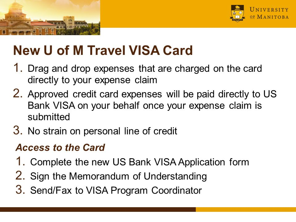 New U of M Travel VISA Card 1.