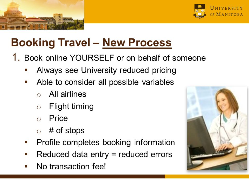 Booking Travel – New Process 1.