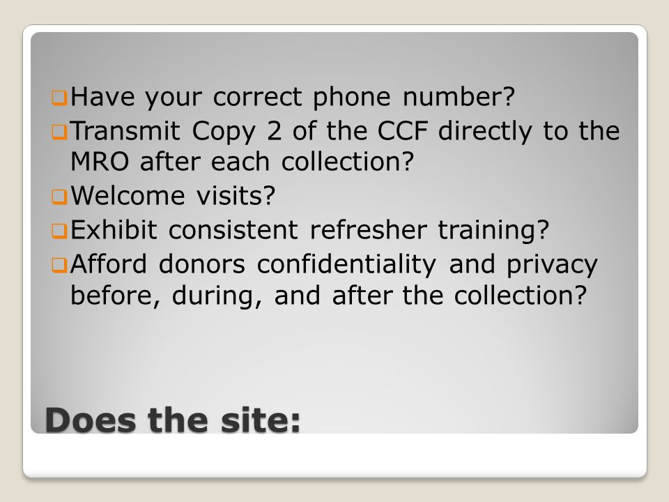 Does the site:  Have your correct phone number.