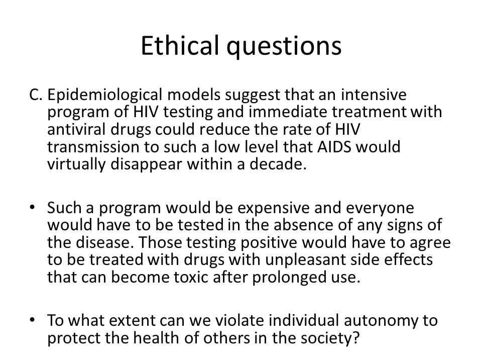 Ethical questions D.