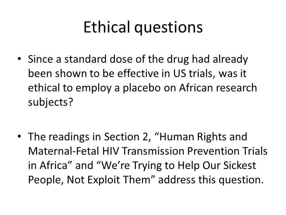 Ethical issues F.