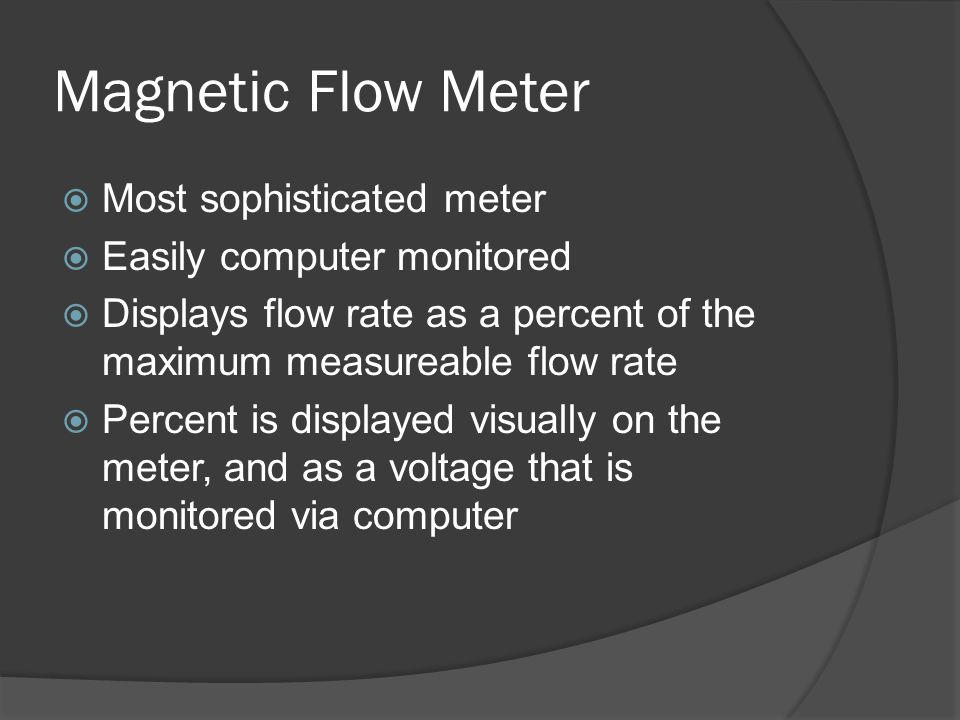 Magnetic Flow Meter VI  Top is raw voltage  VI takes voltage from meter and multiplies it by conversion factor  Final output is flow rate in kg/s  Bottom is final VI  Max flow rate was 2.11 kg/s