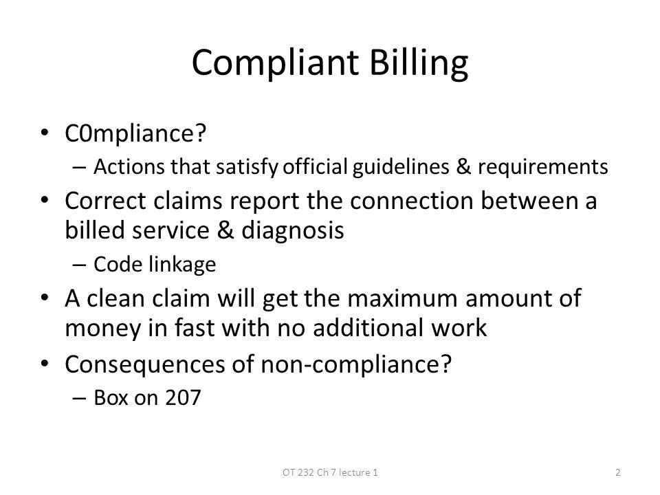 Compliant Billing C0mpliance.