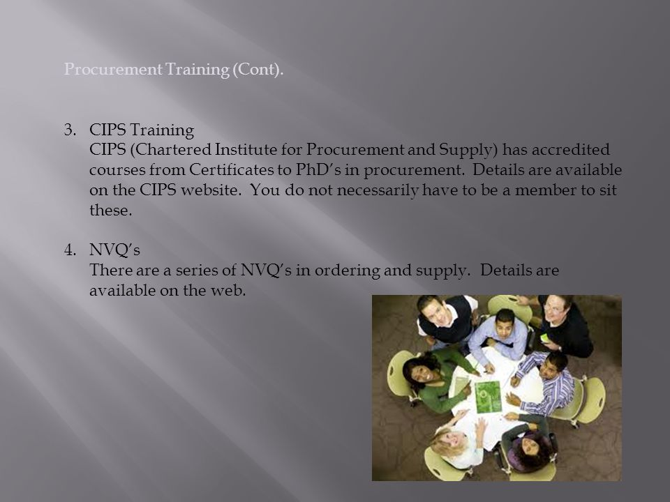 Procurement Training (Cont).