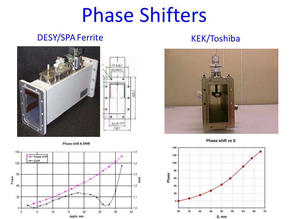 Phase Shifters DESY/SPA Ferrite KEK/Toshiba