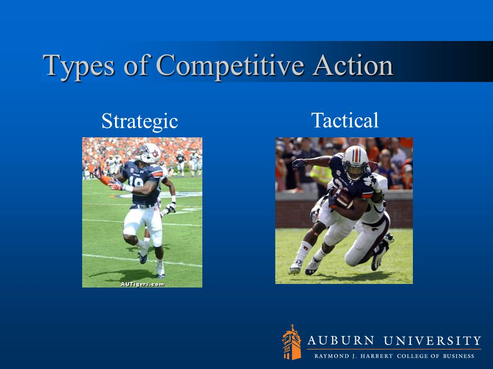 Types of Competitive Action Strategic Tactical