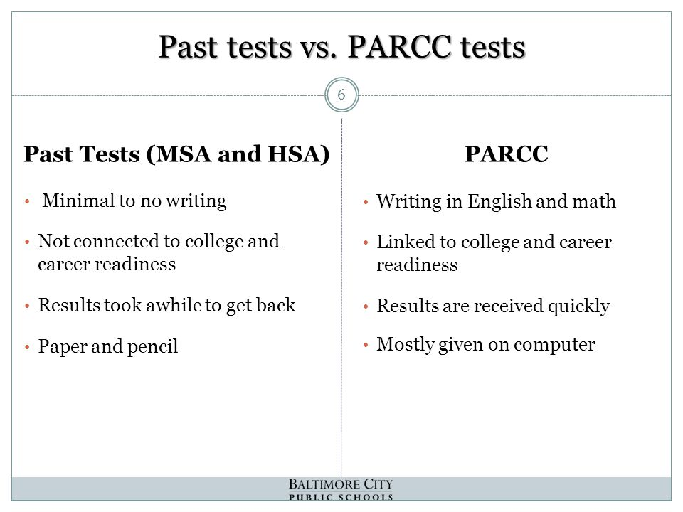 Past tests vs.
