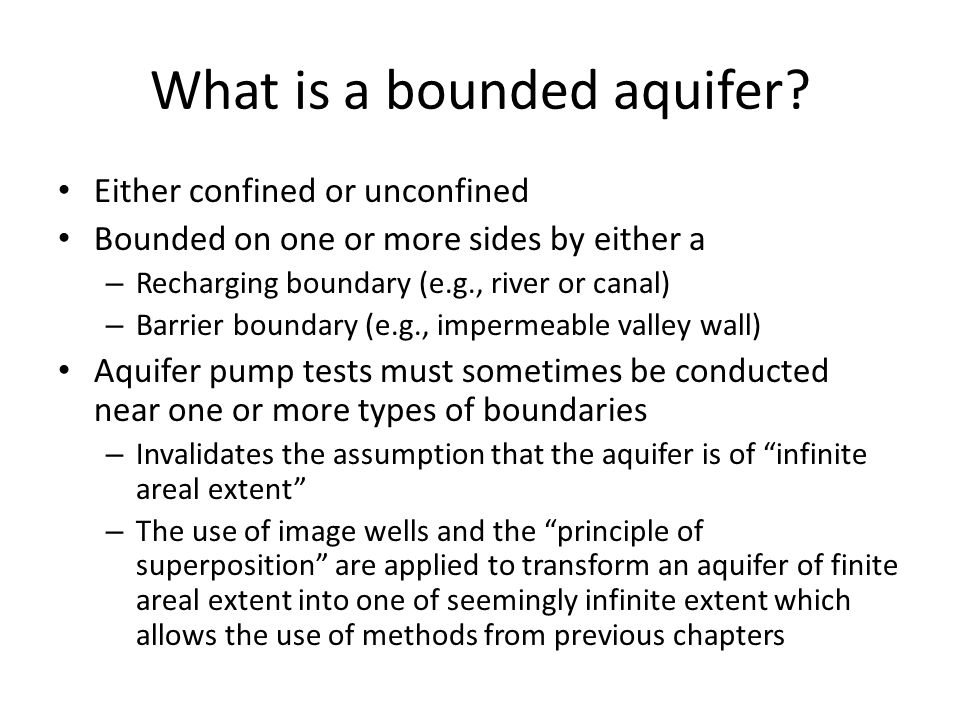 What is a bounded aquifer.