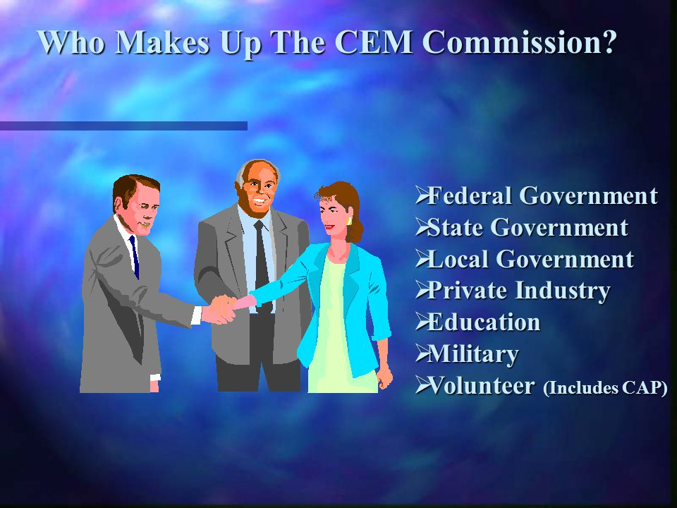Who Makes Up The CEM Commission.