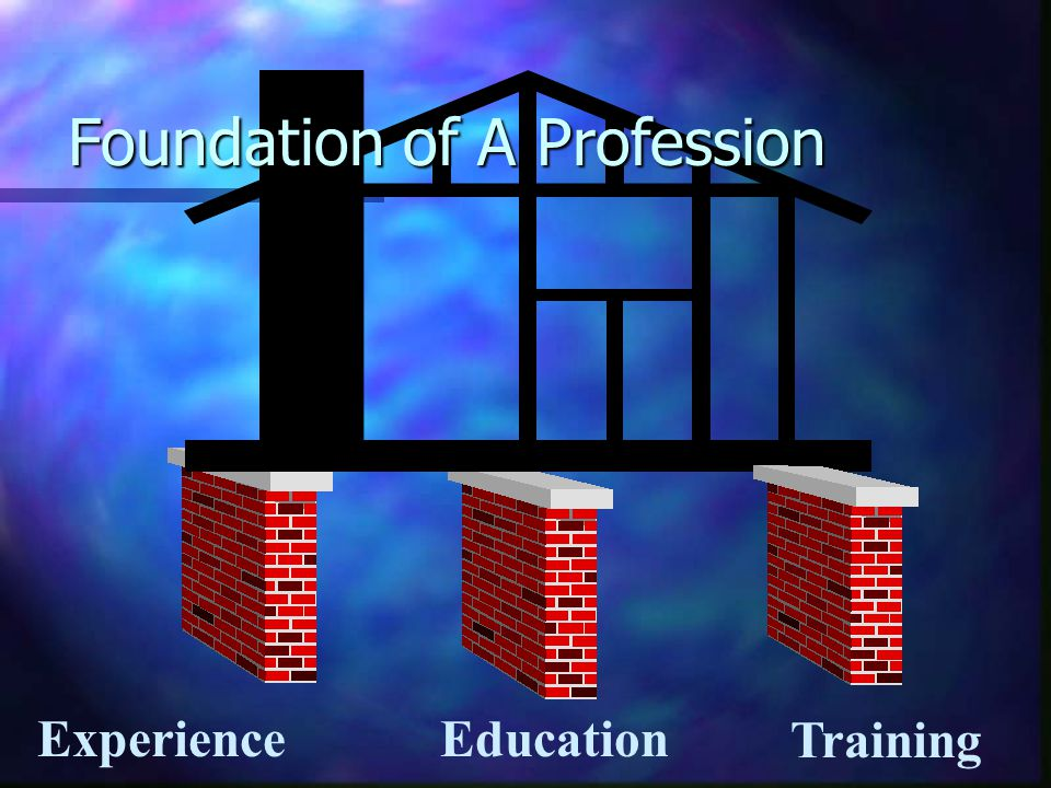 Education Experience Foundation of A Profession Training