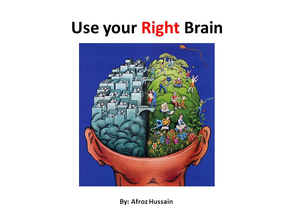Use your Right Brain By: Afroz Hussain