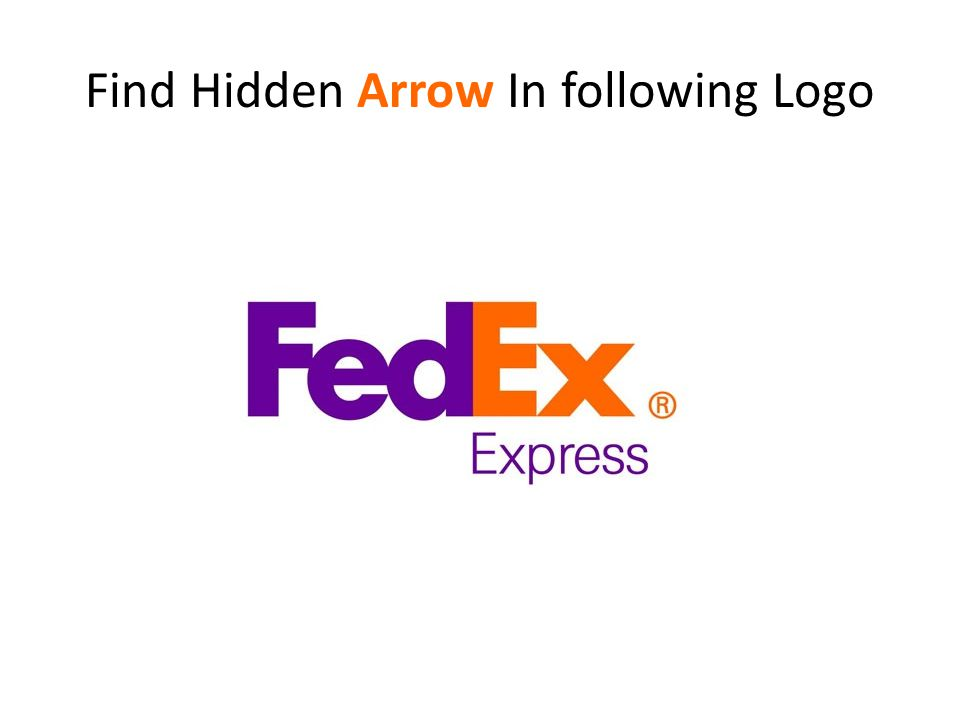 Find Hidden Arrow In following Logo