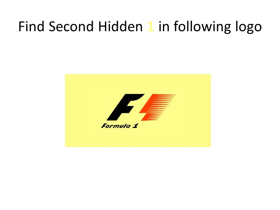 Find Second Hidden 1 in following logo