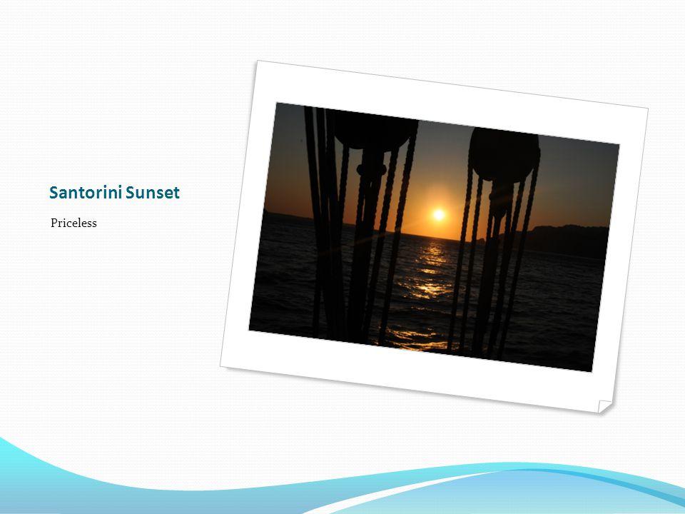 Santorini Sunset Priceless