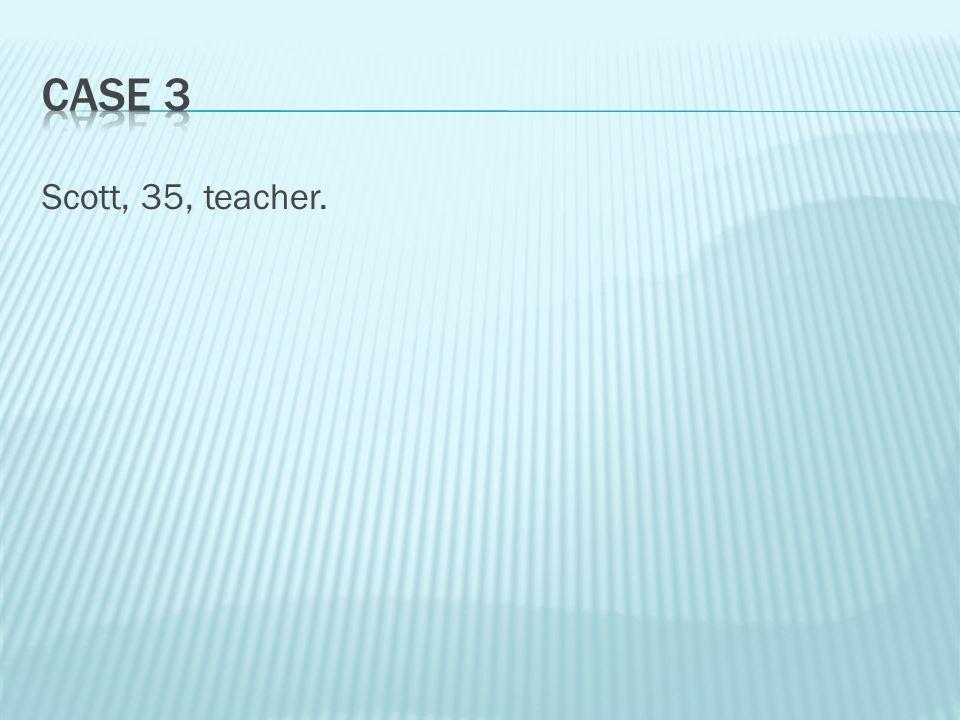 Scott, 35, teacher.