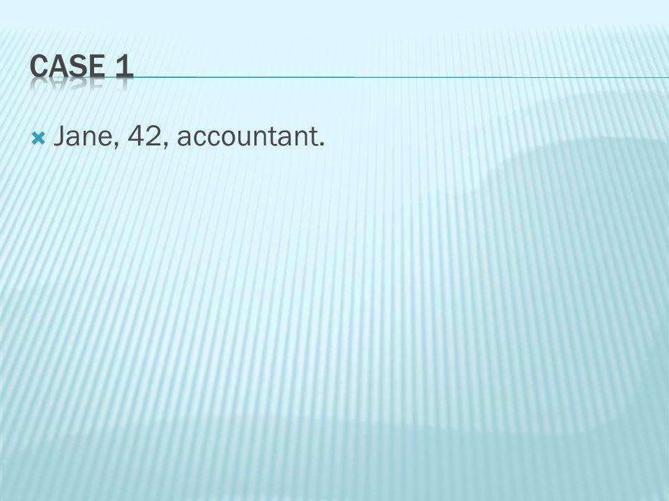  Jane, 42, accountant.